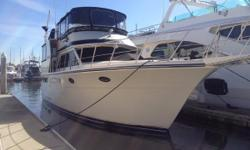 JUST DETAILED NEW INTERIOR CARPET EXCELLENT MECHANICAL CONDITION IMMACULATE THROUGHOUT! This 45' motor Yacht has been well maintained and is in very nice condition. The yacht sleeps 6 comfortably in two staterooms with island beds and a large convertible