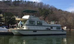 ALABAMA STORE!!This is a classic 47 Harbormaster Open Floor Plan Model. It is powered by 270HP Crusader 350 CID V-Drive Engines with about 620 hours; Kohler 7.5KW Generator with about 735 hours; 2 Marine Air/Heat Systems; Full Galley with Oven and