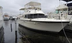 This double cabin motor yacht has seen only freshwater use, and is in very good condition.Only 1400 hours on the twin Caterpillar diesel engines. She cruises at 17 knots and max speed of 20 knots. She is in great condition and is loaded with