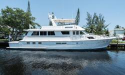 This 74 Hatteras has a four stateroom, four head layout with many updates through the thoughtful, caring owner and captain. Used mostly for family vacations to the Bahamas. She has very low hours on the preferred 12-71s. Stainless steel Bruce anchor. The