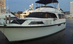 Largest motor yacht in her class! Salon / Galley / Helm - Open floor plan Three Queen-berth Staterooms each with PrivateBath Well Maintained - Many Updates & Upgrades Twin 485 hp Detroit Diesel 671 TI fresh water cooled