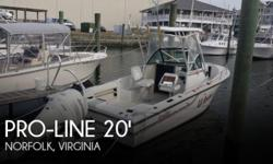 Actual Location: Norfolk, VA - Stock #056728 - If you are in the market for a walkaround boat, look no further than this 1989 Pro-Line 21 Walkaround, just reduced to $12,500.This boat is located in Norfolk, Virginia and is in good condition. She is also