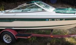 Offered for sale is a Pre-Loved 1989 Sea-Ray 18 BR/CB & 1989 Eagle Bunk Trailer by Rivett's Marine Recreation & Service, Inc. In Old Forge, NY. Pricing Boat & Trailer - $3,705 Exterior Color - White with Green accent Canvas - Green Interior