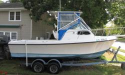 22 Sea Ox with a 1998 200hp Suzuki and trailer Nominal Length: 22' Length At Water Line: 19.3' Length Overall: 22.3' Length Of Deck: 21' Engine(s): Fuel Type: Other Engine Type: Outboard Beam: 8 ft. 0 in.