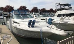 Looking to cruise the Great Lakes? This boat would be a great start. Fresh-water only. Professionally maintained. Trades considered. Engine(s): Fuel Type: Gas Engine Type: Stern Drive - I/O Quantity: 2