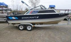 1989 Starcraft 22 I/O Nominal Length: 22' Length Overall: 22' Engine(s): Fuel Type: Other Engine Type: Stern Drive - I/O Beam: 8 ft. 0 in. Stock number: 14835