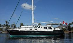 Preliminary listing more to follow soon! Amazing spacious pilothouse motor-sailor built by Mr. Bill Wellington as his personal boat with foam flotation. Inside-outside helm stations with bow thruster and all roller furling rig, designed for easy