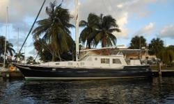 Amazing spacious shoal draft pilothouse motor-sailor custom built by Wellington Yachts for Bill Wellington's personal use with foam flotation. Inside-outside helm stations Hydraulic Windlass & Bow Thruster Hydraulic roller furling genoa & staysail