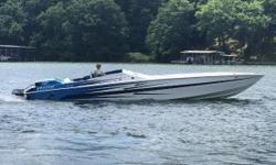 1990 Apache 41 Bushwacker, Twin 588 CID inter cooled 800 HP, (75 hours on rebuilds - 85+ mph - Merc 800 SC build with dual 900 cfm carbs), #6 wet sump drives, aluminum swim platform, 280 K planes, mechanical drive/tab indicators, stainless steel 4 blade