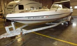 HANDY MAN SPECIAL BLOW OUT PRICE. FEATURES INCLUDE TRAILER, WALK-THRU WINDSHIELD, CUSHIONED BOW SEATING, LOW BOW RAILS, AND MORE! NEEDS WORK DONE ON THE ENGINE. THIS BOAT IS BEING SOLD AS IS. Stock # G3486 All boat prices exclude freight, prep, options,