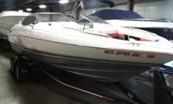 This is a hard to find pre-owned 22 ft. bowrider from Bayliner. It features a huge upgraded Mercruiser 5.7 engine with 230hp. This package also includes Custom Bow & Cockpit Covers and a Custom Trailer. A lot of boat for under $5,000, call today! Boat