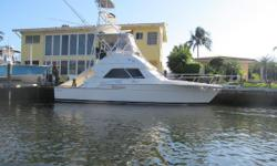The 37 Bertram is a great lookingsport fishing machine with her deep V design she will cut through the water. The boat in its day was designed for blue water sport fishing. With its comfort and layout like the 2 stateroom design and