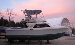 TheBlackfin 33' is known as being an incredible sea boat with a solid fiberglass deep-V hull. Powered with 2001 Caterpillar 3208 375hp Diesel Engines. New Paint Job!   Nominal Length: 33' Engine(s): Fuel Type: Other Engine Type:
