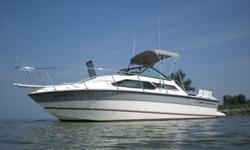 Very clean one owner boat with an Eagle trailer. Beam: 8 ft. 0 in. Fuel tank capacity: 80 Compass; Depth fish finder; Stove; Boat cover; Vhf radio; Stereo; Bimini top; Shore power; Gps loran; Fridge; Shower; Swim platform;