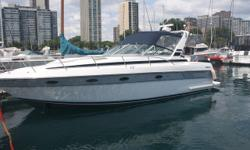 Doral style and quality with boca grande spacious interior layout design. Cockpit reupholstered cabin and galley. This boat looks beautiful. Trades considered. Engine(s): Fuel Type: Gas Engine Type: Inboard Quantity: 2