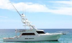 Originally a 58' motor yacht custom built in Los Angeles in 1990 from Doug Sharp Design this exceptional sport fishing machine was extended 20' from the bare hull up in 2005, virtually rebuilding the boat.  Ari Kreiss at Cabo Yacht Center in Cabo San