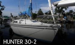 Actual Location: Marco Island, FL - Stock #089166 - Boat is ready to go and powered by a 16 hp Yanmar Diesel...Don't miss this one!This 1990 Hunter 30-2 Sloop appears to be in better than expected condition for its age. It has been well-maintained and