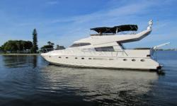 Fantastic condition inside and out and ready to take you to all your dream destinations! Re-powered w/ Man 1100 hp Diesels LOW HOURS Captain Maintained and Operated for Years Beautiful New Granite Counters All Modern Galley Appliances New Carpeting