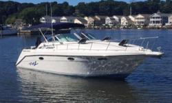 """New Listing! Generous 10'6"""" beam, spacious cabin, about 150 built Nominal Length: 30' Length Overall: 33.9' Max Draft: 3' Engine(s): Fuel Type: Other Engine Type: Stern Drive - I/O Draft: 3 ft. 0 in. Beam: 10 ft. 6 in. Fuel tank capacity: 140 Water tank"""