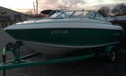 1992 Stingray 599 ZPX ? CONVERTABLE TOP ? FULL BIMINI TOP ? FULL MOORING COVER Beam: 7 ft. 6 in. Hull color: Teal & White Stock number: USED1340