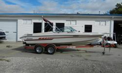 1990 Stratos 205 XLS equipped with OMC 5.7L Cobra inboard/outboard motor. Boat includes battery switch, Lowrance X-5 @ dash and tandem axle trailer with brakes. 8 person capacity. Please call before coming to view as our inventory change location