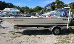 Located in Melbourne this classic Wahoo 1850 Sportfish Dual Console can fill all your fishing family fun roles on the water. Easy to tow and launch, you can hit the road and enjoy all types of water activities. Powered by Yamaha 115 HP this boat and