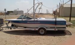 "351 CI. Call Adam 806-789-5722 Category: Powerboats Water Capacity:  Type: Cruiser (Power) Holding Tank Details:  Manufacturer: MasterCraft Boat Company Holding Tank Size:  Model: Pro Star Passengers: 0 Year: 1991 Sleeps: 0 Length/LOA: 19' 0"" Hull"