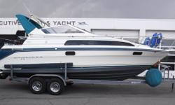 Vessel has ONLY been in fresh water! MerCruiser 7.4L V8 engine, aprx 434 hours MerCruiser Bravo II sterndrive w/stainless prop Wellco 2-axle trailer w/electric brakes, side guides, custom rims, spare tire & cover (2) New batteries in 2017 Battery charger