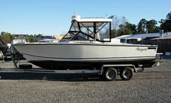 24 Ft Sport Fisher, Volvo Penta 570 with good compression fully serviced, Hard Top with Rocket Launchers, Battery Charger, Dual Batteries with switch, VHF Radio, Stereo CD Player, Garmin Combo Unit, Dual Prop, Outriggers, Center Rigger, Rocket Launcher