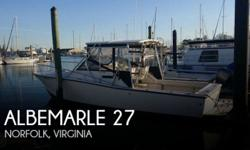 Actual Location: Norfolk, VA - Stock #076357 - If you are in the market for a walkaround, look no further than this 1991 Albemarle 27, just reduced to $29,900 (offers encouraged).This boat is located in Norfolk, Virginia and is in good condition. She is