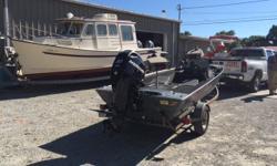 **** Haul has a hook in it *** motor in great shape Beam: 6 ft. 2 in. Depth fish finder; Trolling motor;