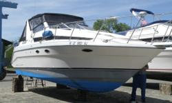 1991 Bayliner 3055 Sunbridge EP CC A very nice 1991 Bayliner 3055 Sunbridge EP CC Family boat with a large well-arranged Cockpit including a Lounge seating as well! 31 feet in overall length Sleeps 4 comfortably within as well! White fiberglass hull with