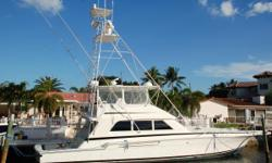 Bertram has been building high quality seaworthy boats for over 50 years. The Bertram 60' is perfect for running the canyons and hitting the tournaments. Her three stateroom, three head, galley up floorplan offers all the comforts of home for those