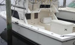 Just reduced $10,000 for a quick summer sale ! The Blackfin 33' is known as being an incredible sea boat with a solid fiberglass deep-V hull. Powered with Caterpillar 3208 320hp Diesel Engines. 2011 Northern Lights 6kw Under water lights, AC, Life raft,