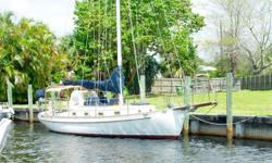 (LOCATION: Fort Lauderdale FL) This Cape George 31 is a blue water cutter, heavy displacement full keel, and Kubota diesel engine.Designed for long distance cruisingMahalohas cruised both coasts of the United States and the