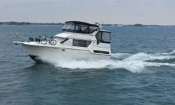 Numerous updates on a Classic Aft Cabin design. New swim platform, new cabin flooring & carpet, new exterior carpet, well maintained boat, great for family boating. New upholstery in salon and dinette, new icemaker. Trades considered. CANVAS AFT DECK