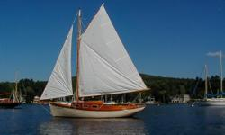 This is a custom built 20 foot Stadel sloop, full keel,gaff rigged sloop. This boat was designed by George Stadel, and built by Richard Jones in NY. This boat shows beautiful craftsmanship, andis a sound and solid sailing