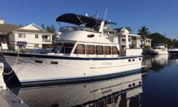 """Here is your Long Range Cruiser! The 44"""" DeFever Long Range Cruiser is a heavily built, serious offshore passagemaker, and with the 900 gallon fuel capacity, she is a capable long-range trawler/motoryacht. Dependable 210hp Caterpillar diesels, Niad"""
