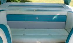 This is one of Four Winns most popular boats. It has room for a lot of people and the power to pull tubes and skiers. It also has a custom four Winns trailer. Beam: 7 ft. 8 in. Hull color: white/teal Boat cover; Stereo; Bimini top;
