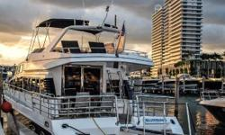 This season spend the holidays in this beautiful Monte Fino 64 MY. The Monte Fino is a rare find and is in a class of it's own. The Monte Fino was built and manufactured in Italy. The Motor Yacht offers all the room and Luxury you need for you