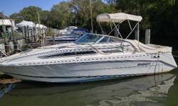 NEW LISTING! Deck carpet new 2015, Bimini Top new 2014, side curtains new 2013 Nominal Length: 26' Length Overall: 28.9' Max Draft: 2.9' Engine(s): Fuel Type: Other Engine Type: Stern Drive - I/O Draft: 2 ft. 11 in. Beam: 8 ft. 6 in. Fuel tank