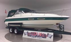 Here is a really nice big cuddy at an affordable price! Purrs like a kitten! All professionally checked out and detailed and ready for the water!! Comes with warranty! This is not an old warn out 1991 back yard dirty boat!