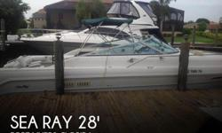 Actual Location: Fort Myers, FL - Stock #063106 - This vessel was SOLD on August 17.If you are in the market for a cruiser, look no further than this 1991 Sea Ray 280 Weekender, just reduced to $18,995 (offers encouraged).This boat is located in Fort