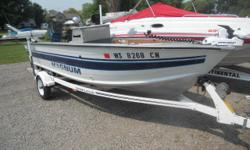 Fishing boat that is well-equipped and priced to sell. Trades Considered ELECTRONIC FISH FINDER - 4 FISH DOWNRIGGERS ELECTRIC TROLLING MOTOR LIVE WELL GENERAL GAS AUX. MOTOR - 15HP MERCURY STOCK# B14226 TRAILER 1 AXLE-TRAILER ROLLER TRAILER SPARE