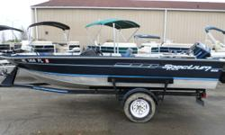 1991 Spectrum 1606 SC, - Side Console- Motor Guide Trolling Motor: 25lb Thrust- 3 Seats - Portable Fuel Tank- Spare Tire Nominal Length: 16' Stock number: 11474