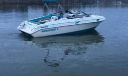 1991 Sunbird Corsair Very clean and looks great Many bells and whistles Lavatory Cocktail table Sunroof Canopy top Vinyl window Cover Stern platform with ladder Bow with sleeping quarters and seating arrangement along with portable table and storage area