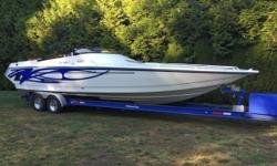2002 Velocity 320 Performance Boat I am the original owner of this 2002 velocity The boat was custom ordered with vinylester resin hull Latham hydraulic steering K plane trim tabs and the best part it has the blue motors 500 efi mercury with brovo 1 xz
