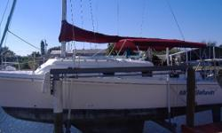 This well-built 30' Catamaran built by Endeavour USA is a rare offering. This design has many great features including its interior which has two Queen cabins, a full galley, lots of headroom, a cozy salon and a separate head & shower.
