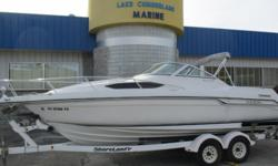 1992 Regal Valanti 225 SC ? Volvo Penta 5.7 260HP ? Dual Prop Outdrive ? Stainless Steel Props ? Bimini Top ? Cockpit Canvas ? AM/FM Stereo ? Remote Control Spotlight ? Transom Shower ? Cabin w/ Sink and Table ? Enclosed Marine Head ? Removable Front Bow