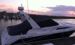 This 29 footexpress cruiseris easy to drive, maintain, and afford while also offering all the comfortsyou would expect from a Sea Ray.This capable cruiser offers a V-berth and mid-stateroom, as well as a galley and head. Owner will
